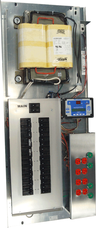 Inside view of an Isolated Power Panel